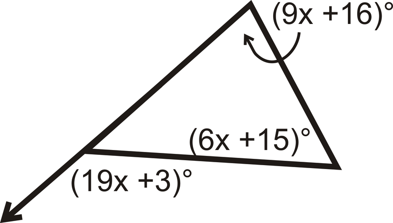 Exterior angles theorems read geometry ck 12 - Sum of the exterior angles of a triangle ...