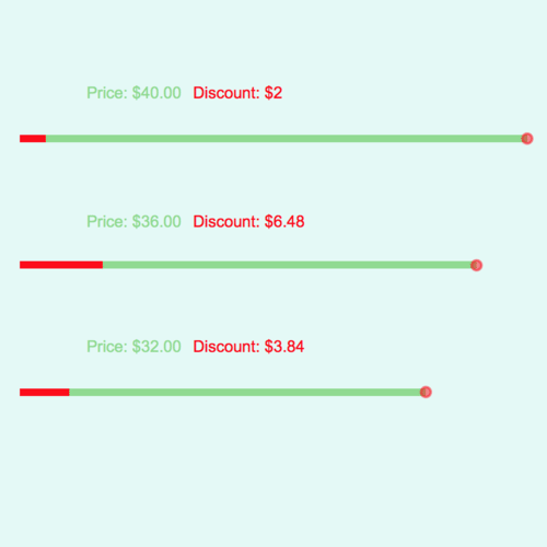 Prices Involving Discounts: Sliders