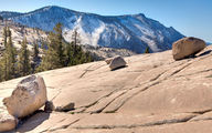 These glacial erratics at Yosemite National Park was deposited by a glacier