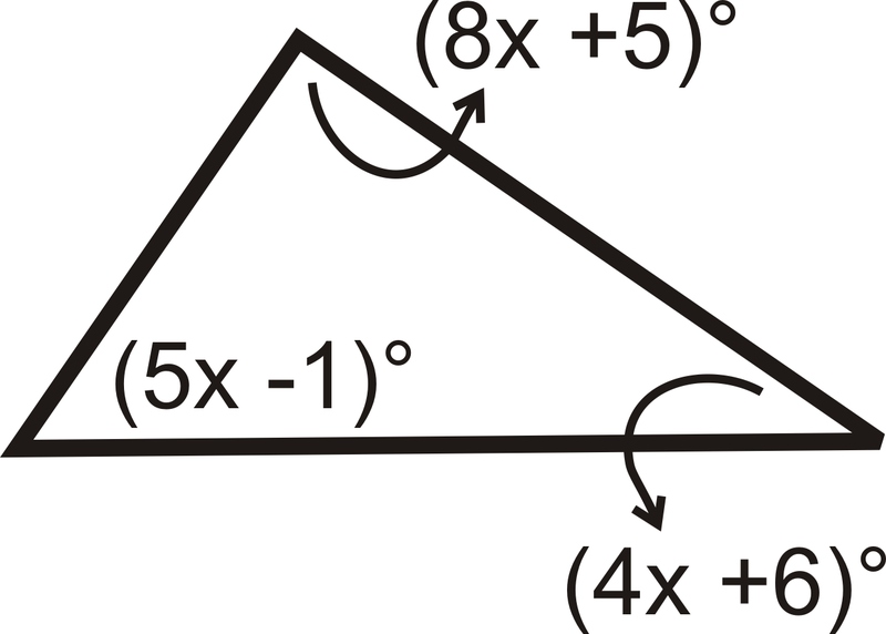 Isosceles and Equilateral Triangles – Triangle Sum Theorem Worksheet