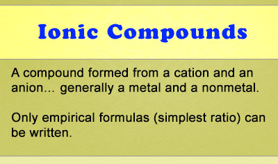 Ionic Compounds - Chemistry Tutorial