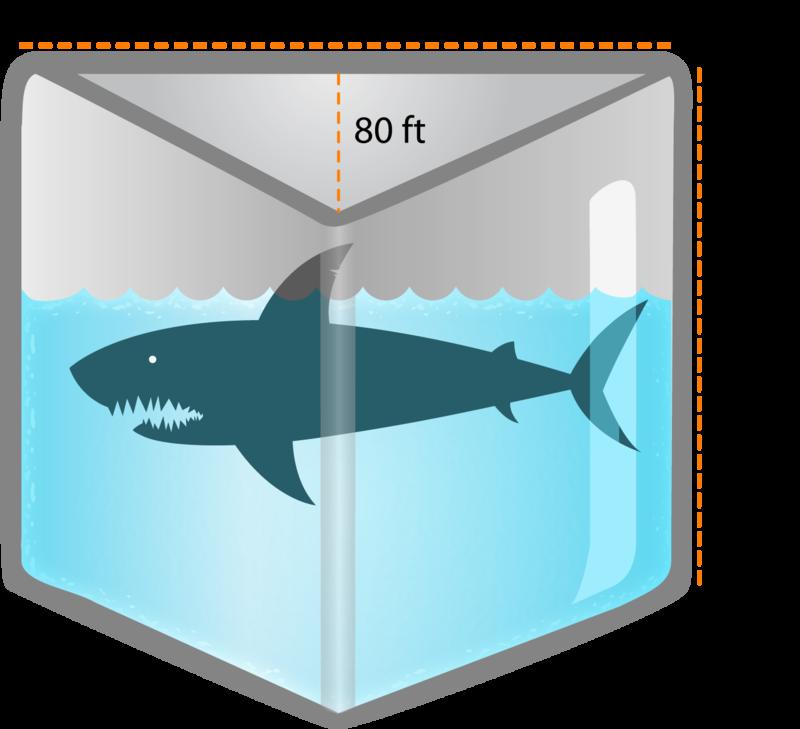 Volume of triangular prisms read geometry ck 12 for Fish tank volume calculator