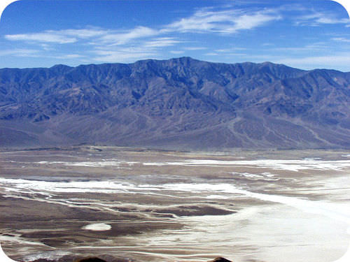 A series of alluvial fans in Death Valley