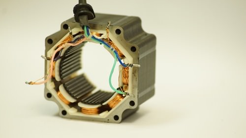 Cutaway of a real electric motor