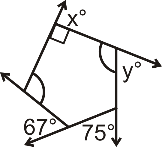 Printables Interior And Exterior Angles Of Polygons Worksheet exterior angles in convex polygons read geometry ck 12 the of a quadrilateral are and what is x