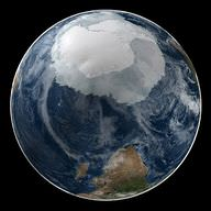 The continent of Antarctica is covered with an ice cap