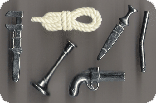 Possible Weapons from Game Clue