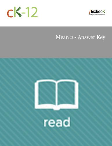 Mean 2 - Answer Key