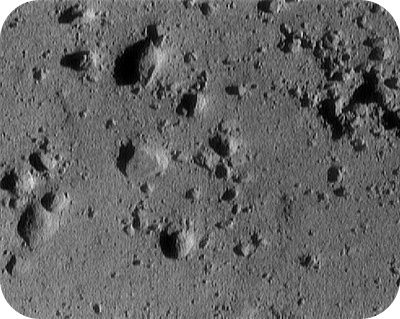 A picture of the surface of 433 Eros