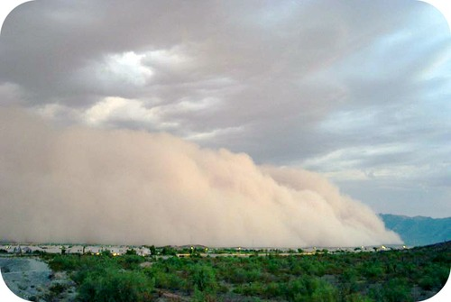 Picture of a haboob in Phoenix, Arizona