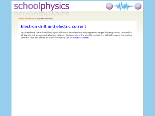 Electron Drift and Electric Current