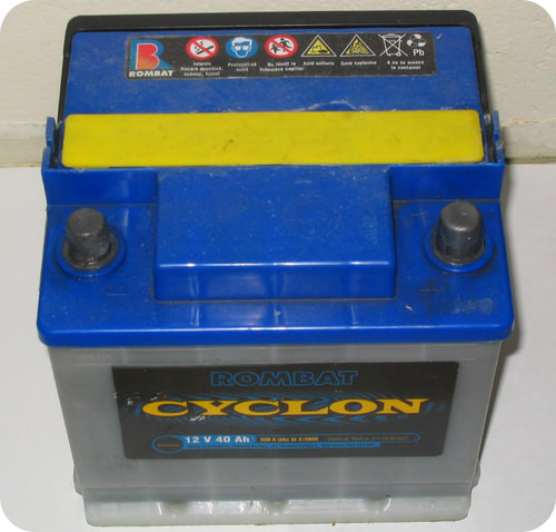 Car batteries contain sulfuric acid
