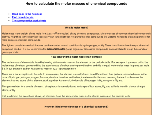 How to Calculate the Molar Masses of Chemical Compounds