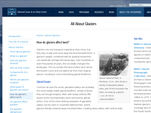 How Do Glaciers Affect Land?