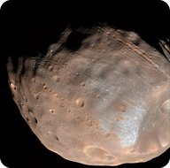 Phobos, one of Mars' moons