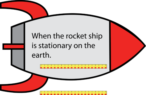 Meterstick in a stationary rocket