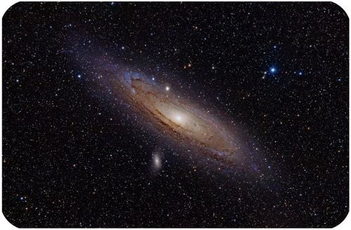 The Andromeda Galaxy is a large spiral galaxy similar to the Milky Way