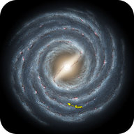 An artistic rendition of what the Milky Way Galaxy would look like from above