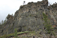 Columnar joints in basalt in Wyoming