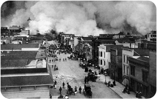 In the 1906 San Francisco earthquake, fire was much more destructive than the ground shaking