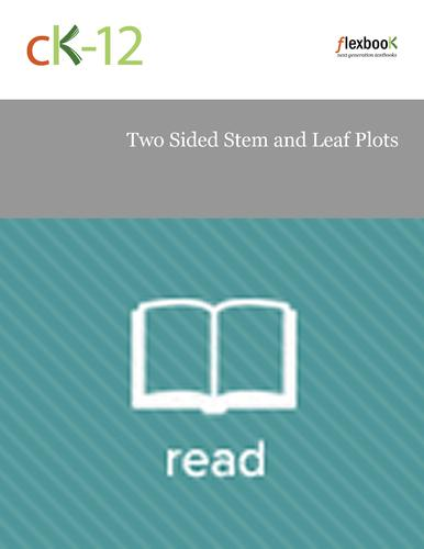 Two Sided Stem and Leaf Plots