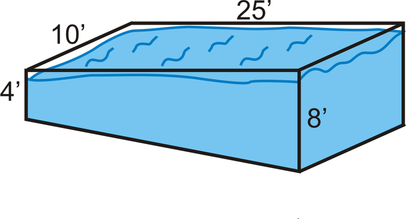 Surface area and volume of prisms read geometry ck - How to calculate swimming pool volume ...
