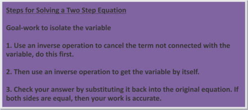 2 Step Equations