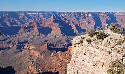 Rock layers in the Grand Canyon show lateral continuity