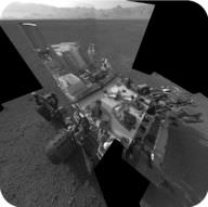 Picture of the Curiosity rover on Mars