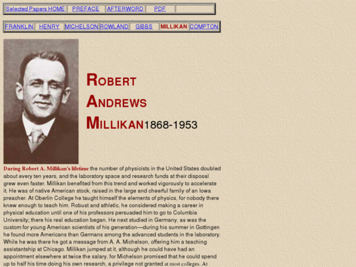Biography of Robert Andrews Millikan