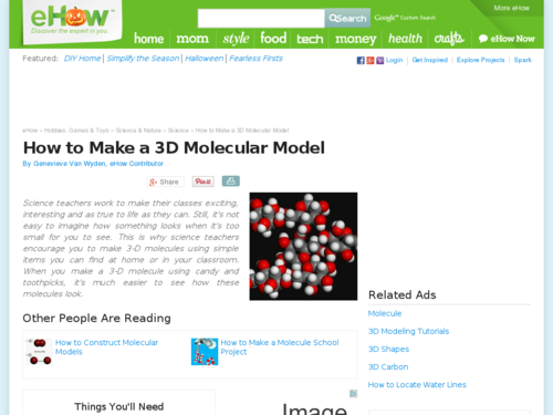 How to Make a 3D Molecular Model