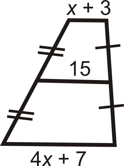 Trapezoids read geometry ck 12 foundation find the lengths of the diagonals of the trapezoids below to determine if it is isosceles ccuart Image collections