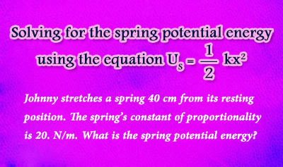 Spring Potential Energy - Example 1
