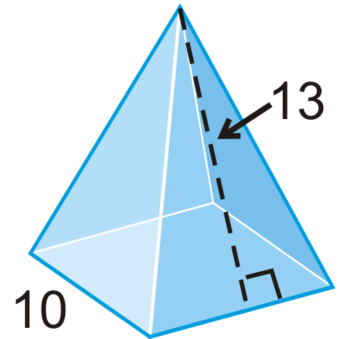 Surface Area Of Pyramids And Cones Ck 12 Foundation