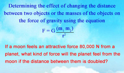 Newton's Law of Gravitation - Example 1
