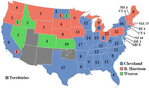 1892 Electoral College Vote