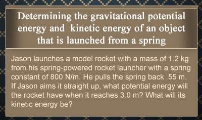 Conservation of Mechanical Energy for Objects that are Launched from Springs - Example 1