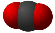 Structure of a carbon dioxide molecule