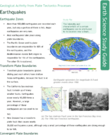 Earthquake Zones Study Guide
