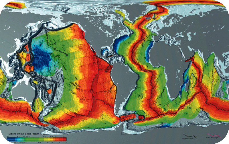 Magnetic Anomaly Map Of The World.Magnetic Evidence For Seafloor Spreading Read Earth Science