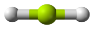 Model of beryllium hydride, which is linear