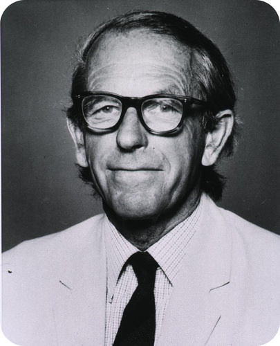 Portrait of Frederick Sanger, the discoverer of insulin