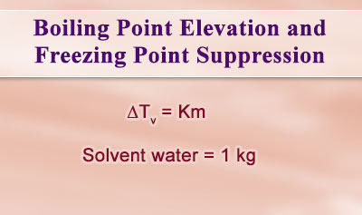 Boiling Point Elevation and Freezing Point Suppression