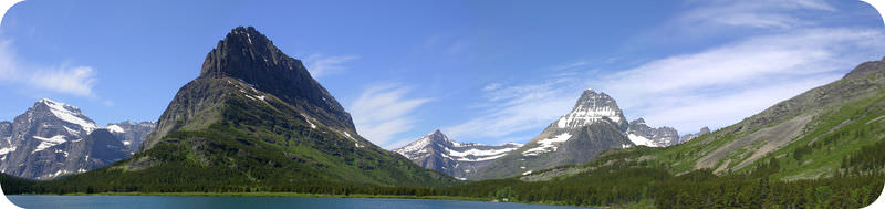 A U-shaped valley in Glacier National Park