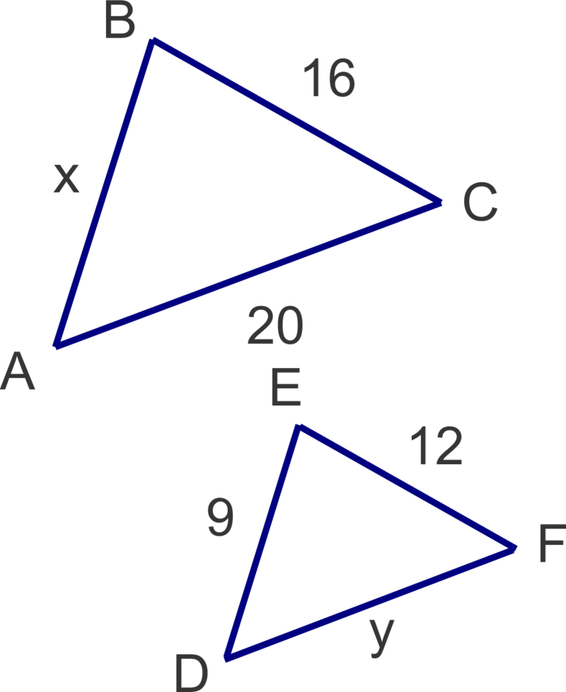 how to use proportions to solve similar triangles