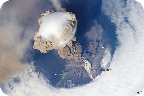 Eruption of the Sarychev Volcano
