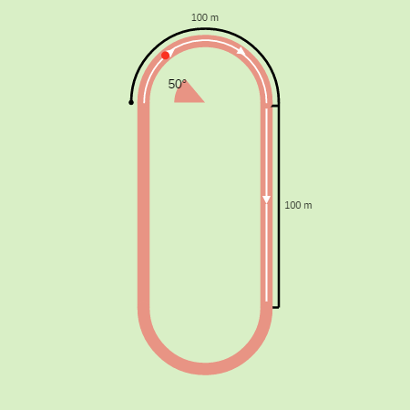 Angular Velocity: 200 Meter Dash