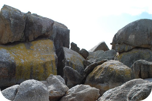 Pile of rocks and boulders