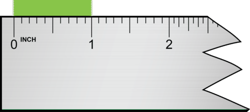 This measurement is read as 1.00 inch, which has three significant figures