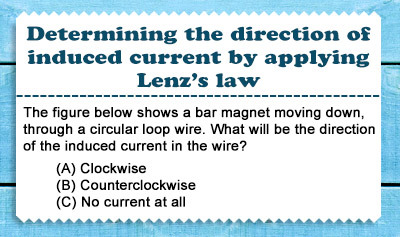 Lenz's Law: Direction of the Induced Current - Example 1